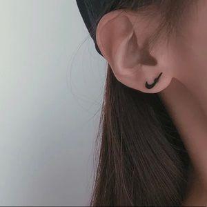 NEW! Black Nike Swoosh Stud Earrings ✨